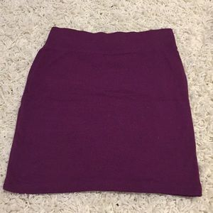 Purple Plum Pencil Mini Skirt
